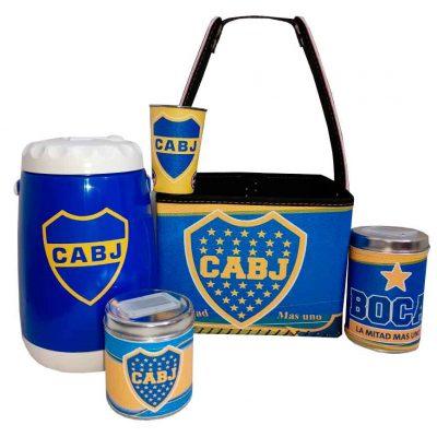 Set para terere con canasto diseño de Boca Juniors