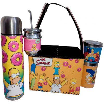 Set matero con canasto diseño de Simpsons