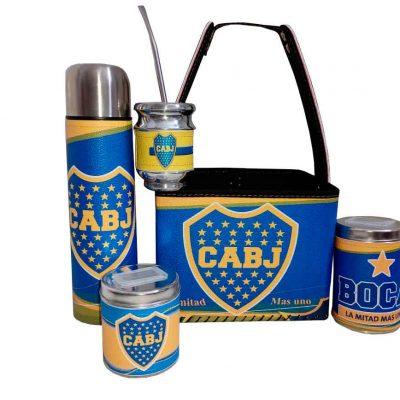 Set matero con canasto diseño de Boca Juniors