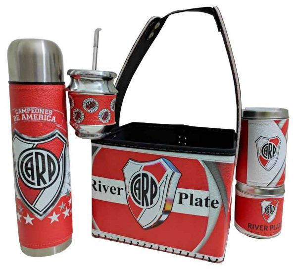Set matero con canasto diseño de River Plate