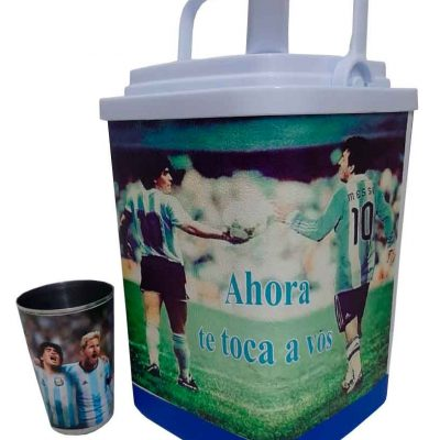 Set de terere con diseño de Messi y Maradona