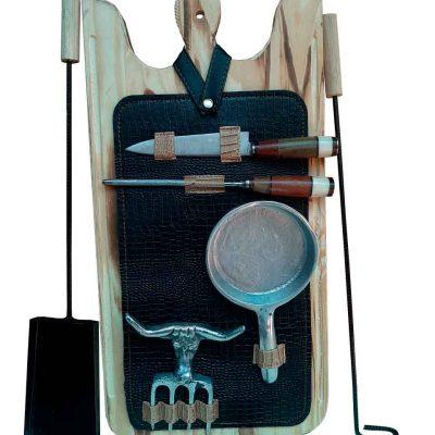 Set de asado atizador con estuche negro